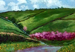 Cherry Tree Lane by Timmy Mallett -  sized 14x10 inches. Available from Whitewall Galleries